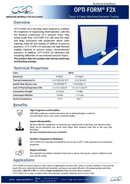 Photo datasheet F2X CGP Europe